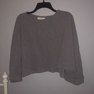 Gray Crop Sweater - New Without Tags - Forever 21